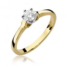 ba7e1e797593b6 Złoty pierścionek zaręczynowy z brylantem 0.30ct BDW296/30