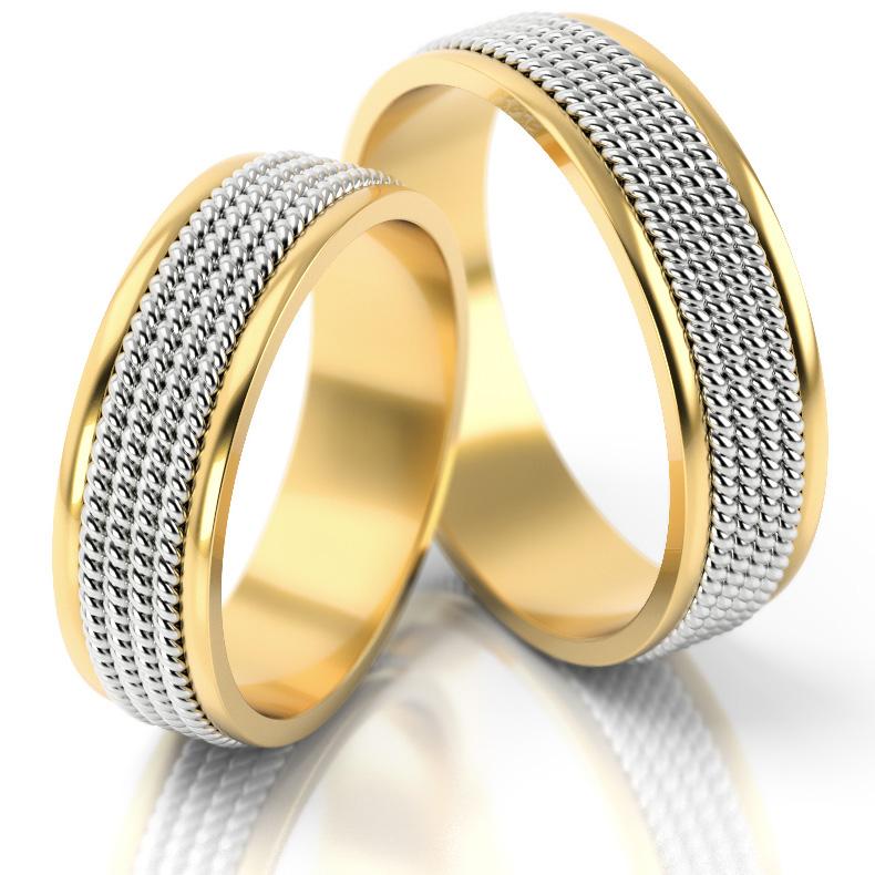 5a6a7e5362a07b Obrączki ślubne ze złota AS66 na białym tle ...
