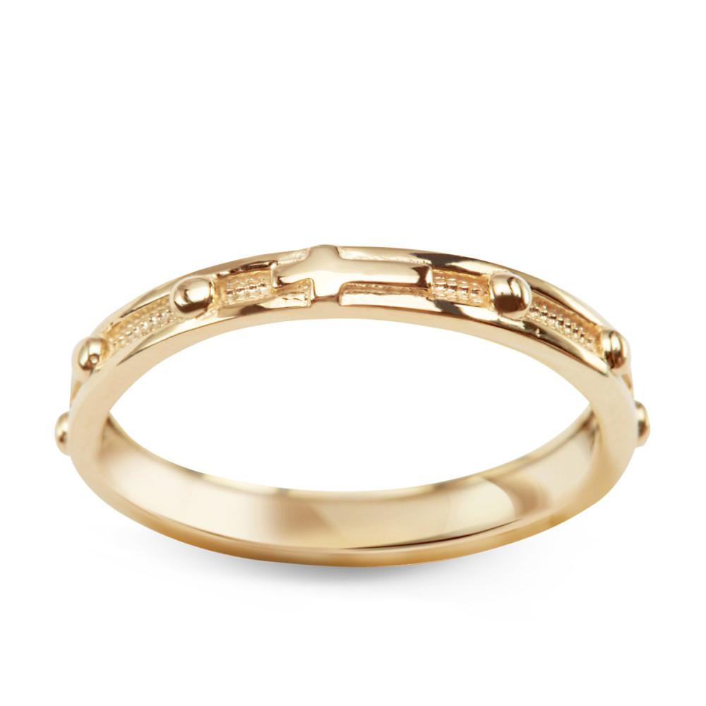 Złoty Pierścionek Różaniec Marki Verona Ea12839