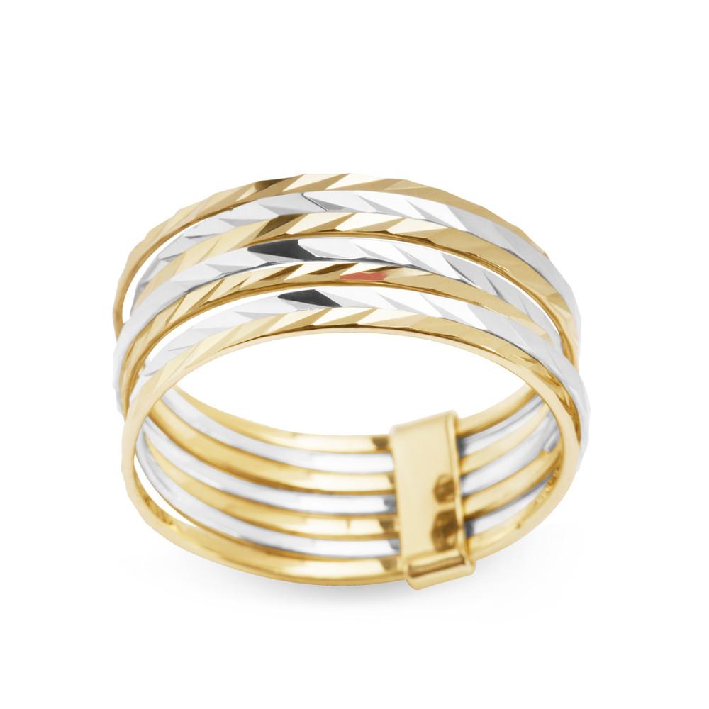 Złoty Pierścionek Marki Verona Ea14465