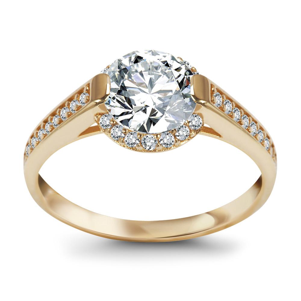 Złoty Pierścionek Marki Verona Eb11601
