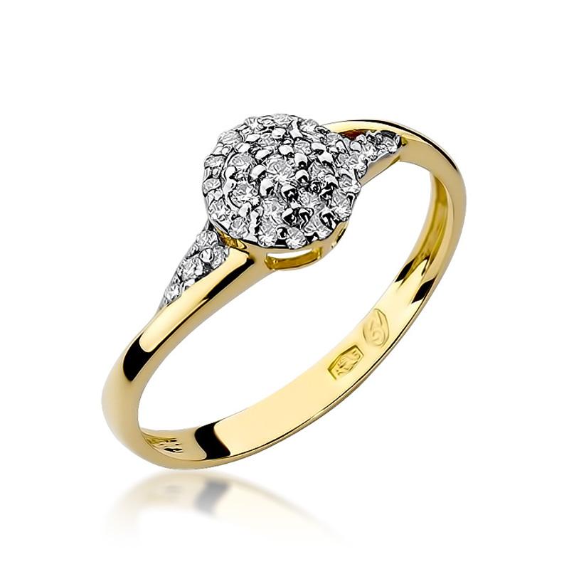 Złoty Pierścionek Zaręczynowy Z Brylantami 020ct Bdw18