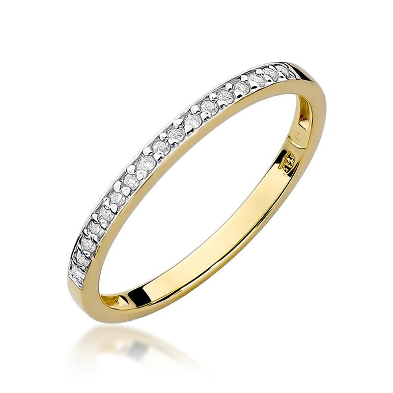 Pierścionek Zaręczynowy Z Brylantami 009ct Bdw306