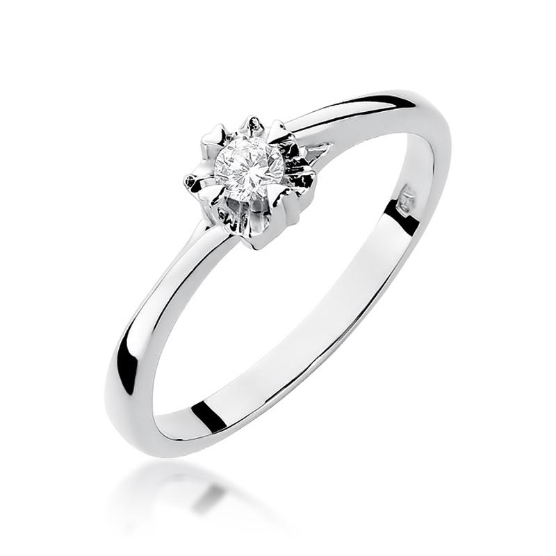 Pierścionek Zaręczynowy Z Brylantem 010ct Bdw318