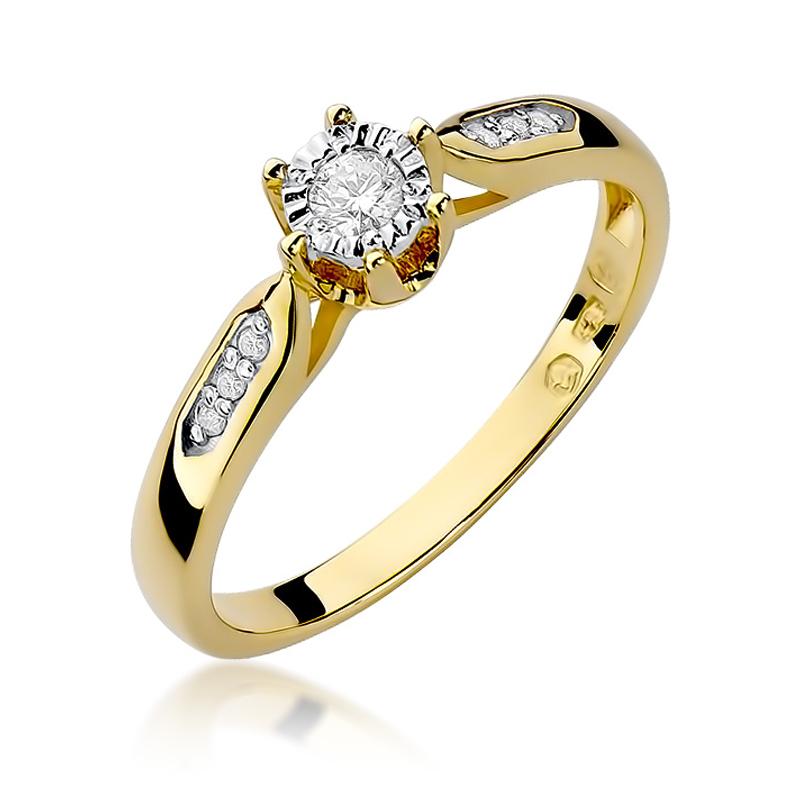 Pierścionek Zaręczynowy Z Brylantami 011ct Bdw328