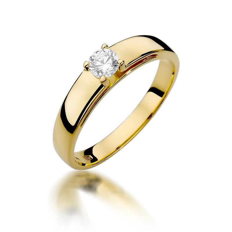 Pierścionek Zaręczynowy Z Brylantem 023ct Bdw374